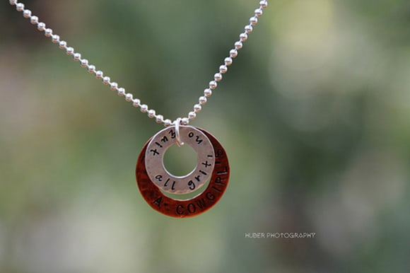 """""""All Grit No Quit"""" Sterling Silver & Copper"""