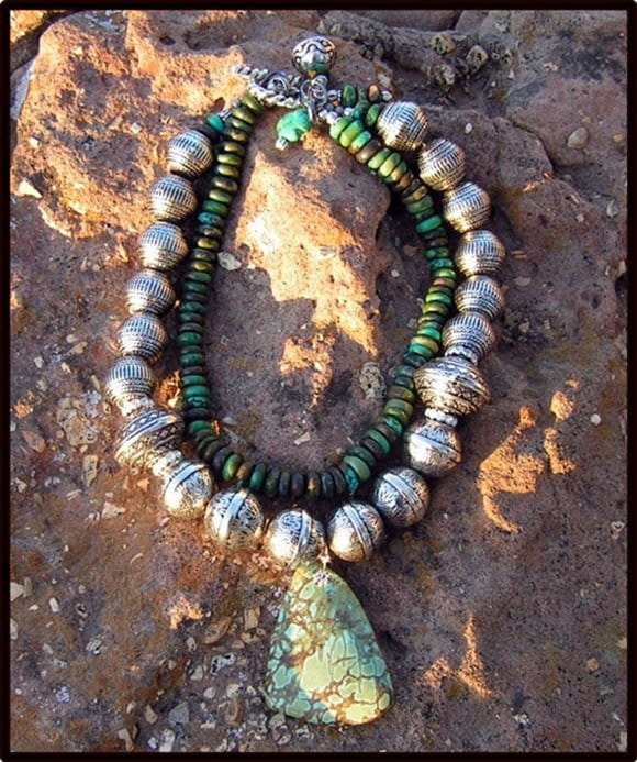 Saltwater Cowgirl Serena Turquoise and Copper Necklace