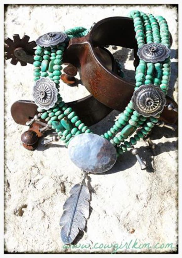 Lone Eagle Studios via Cowgirl Kim Camissa Turquoise Necklace