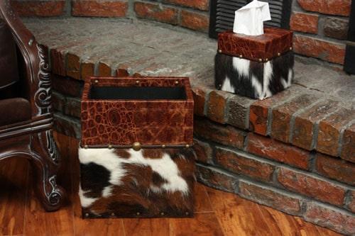 Cowhide Tissue Box