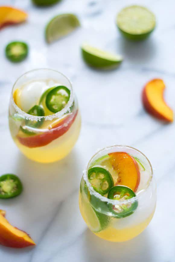 Fizzy Peach Jalapeno Margarita