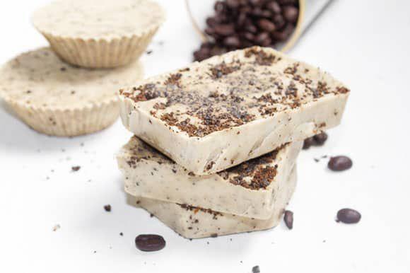 DIY Coffee Mint Soap Bars