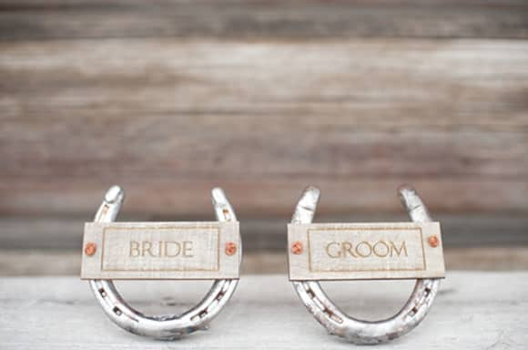 Horseshoes for the couple