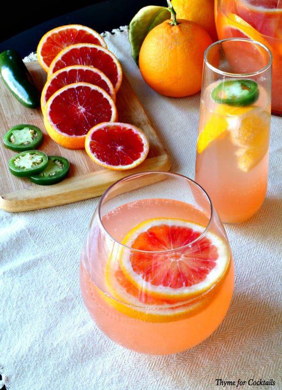 Jalapeno Blood Orange Sangria