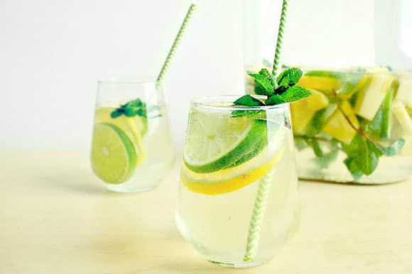 Minty Lime Pineapple Sangria