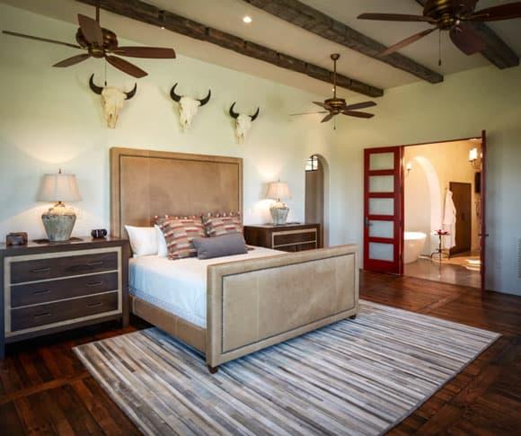 Cow Skulls In The Bedroom