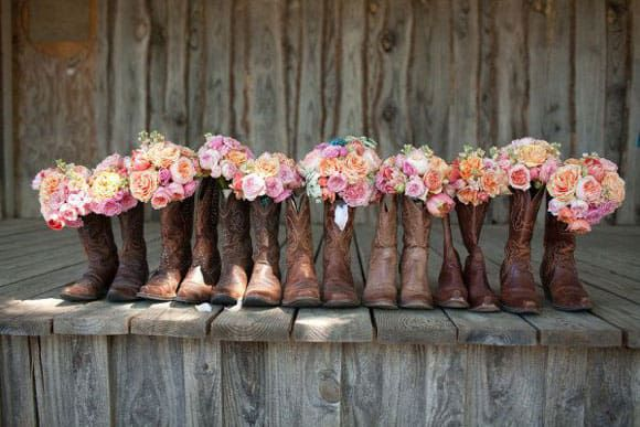 cowboy boots and bouquets