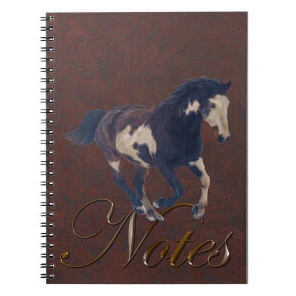 Paint horse notebook