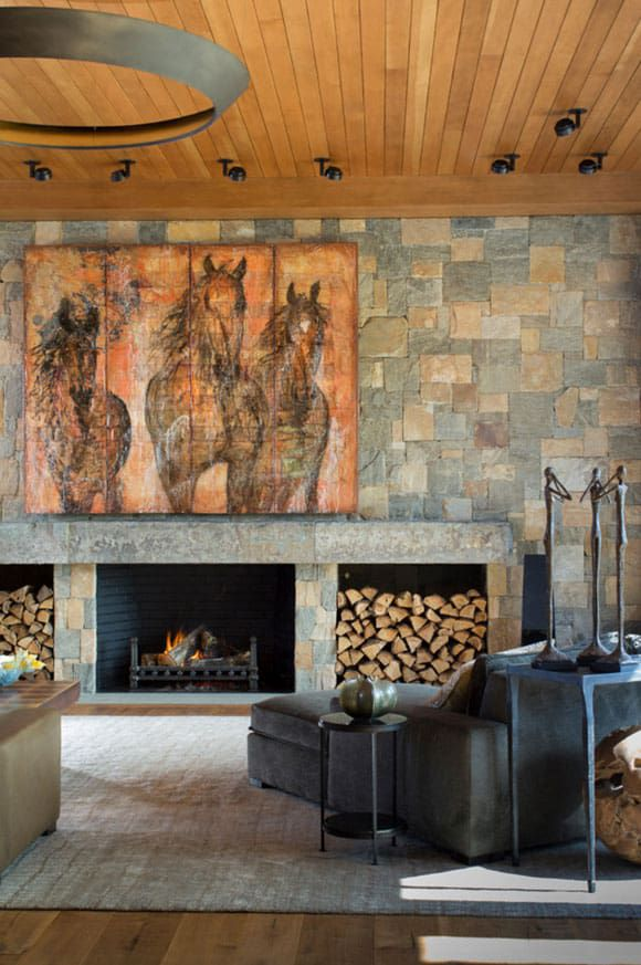 rustic space with horse art