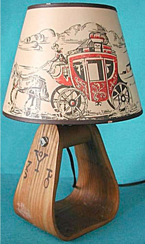 vintage stirrup lamp