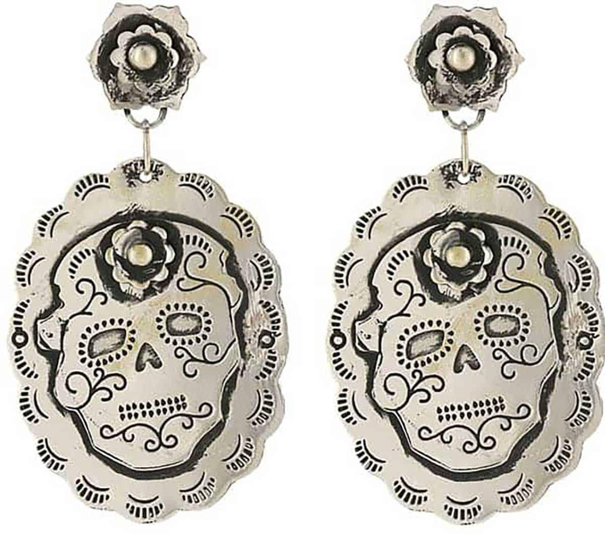 cowgirl skull earrings