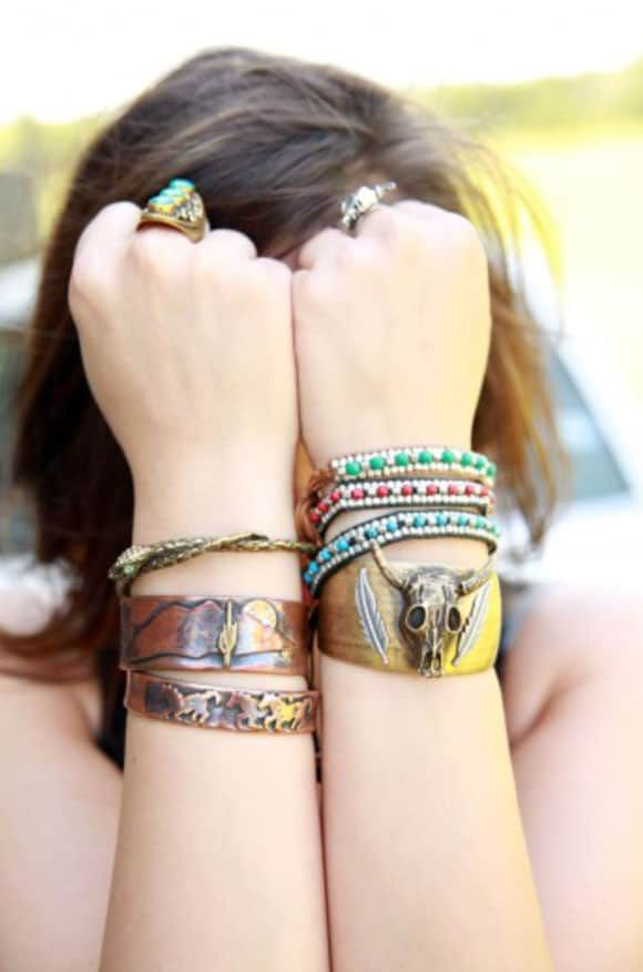 assorted Junk Gypsy bracelets and bangles