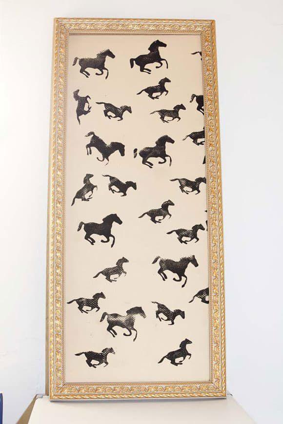 DIY stamped horse art