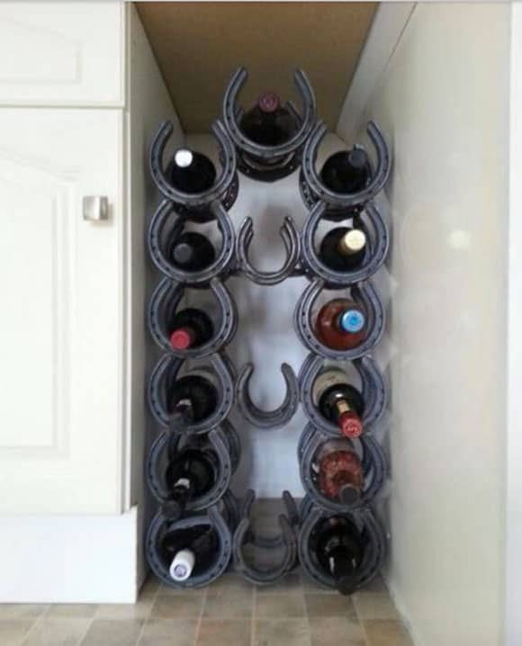 horseshoe wine rack for the corner