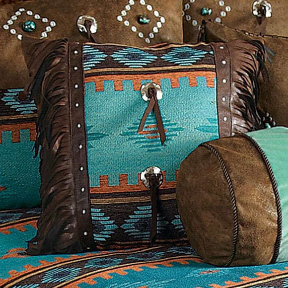 Turquoise pillows for the home cowgirl magazine for Lone star home decor
