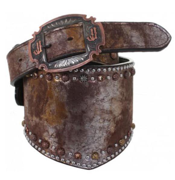 metallic chocolate belt by Double J Saddlery