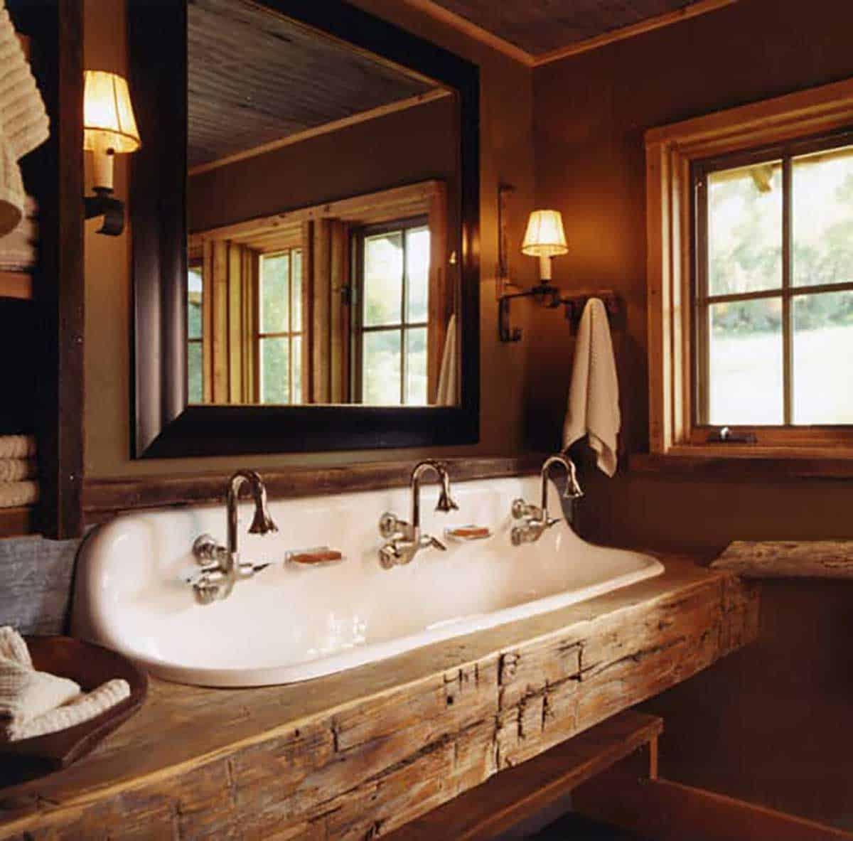 Rustic-wooden-sink