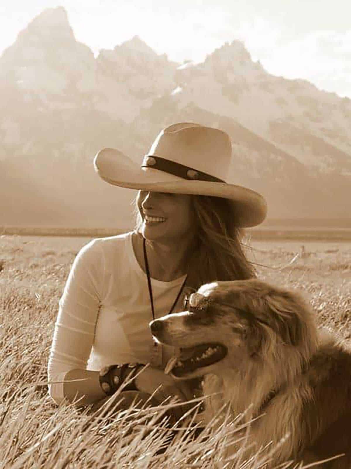 cowgirl-and-dog