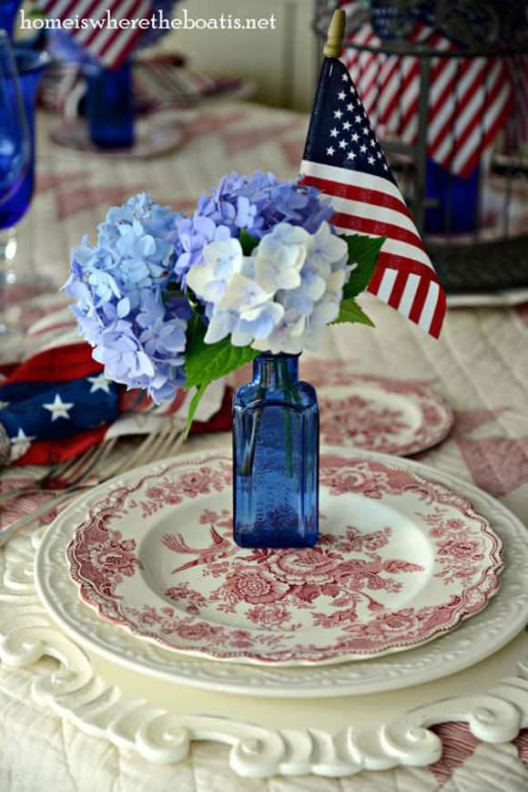 4th of July plates