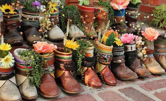 Cowboy Boot Planters Cowgirl Magazine & Cowboy Boot Flower Vase - Ivoiregion