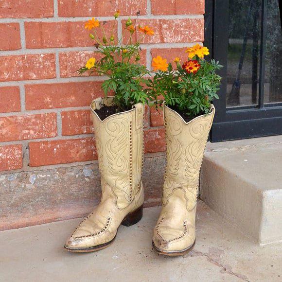cowboy boot planters