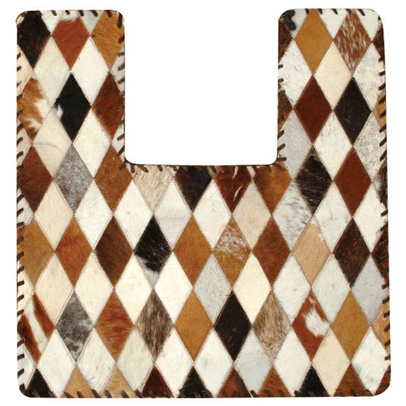 Cowhide Bathroom Rug