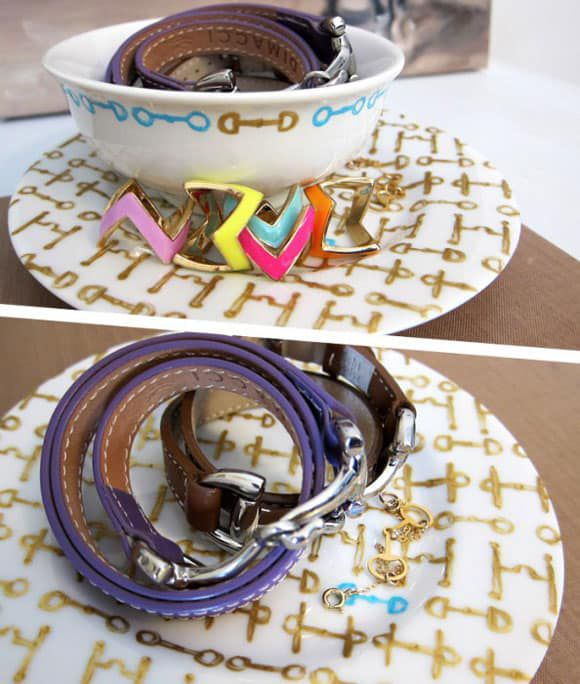 DIY Porcelain Paint Jewelry Display