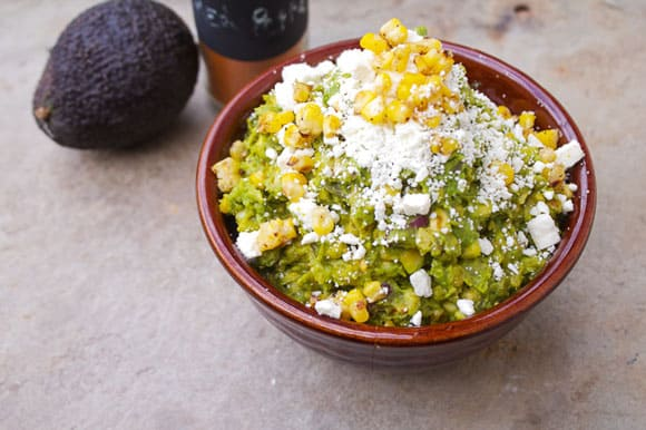 Guacamole Corn and Feta Dip