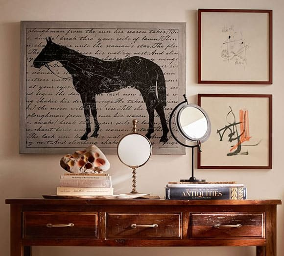 Horse canvas wall art