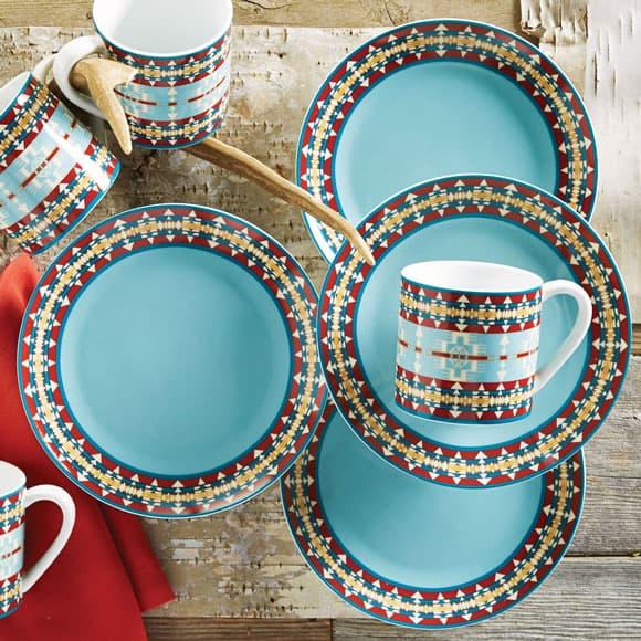 Turquoise Hacienda Plates