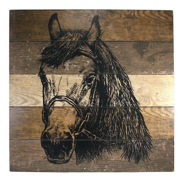 Wooden horse art