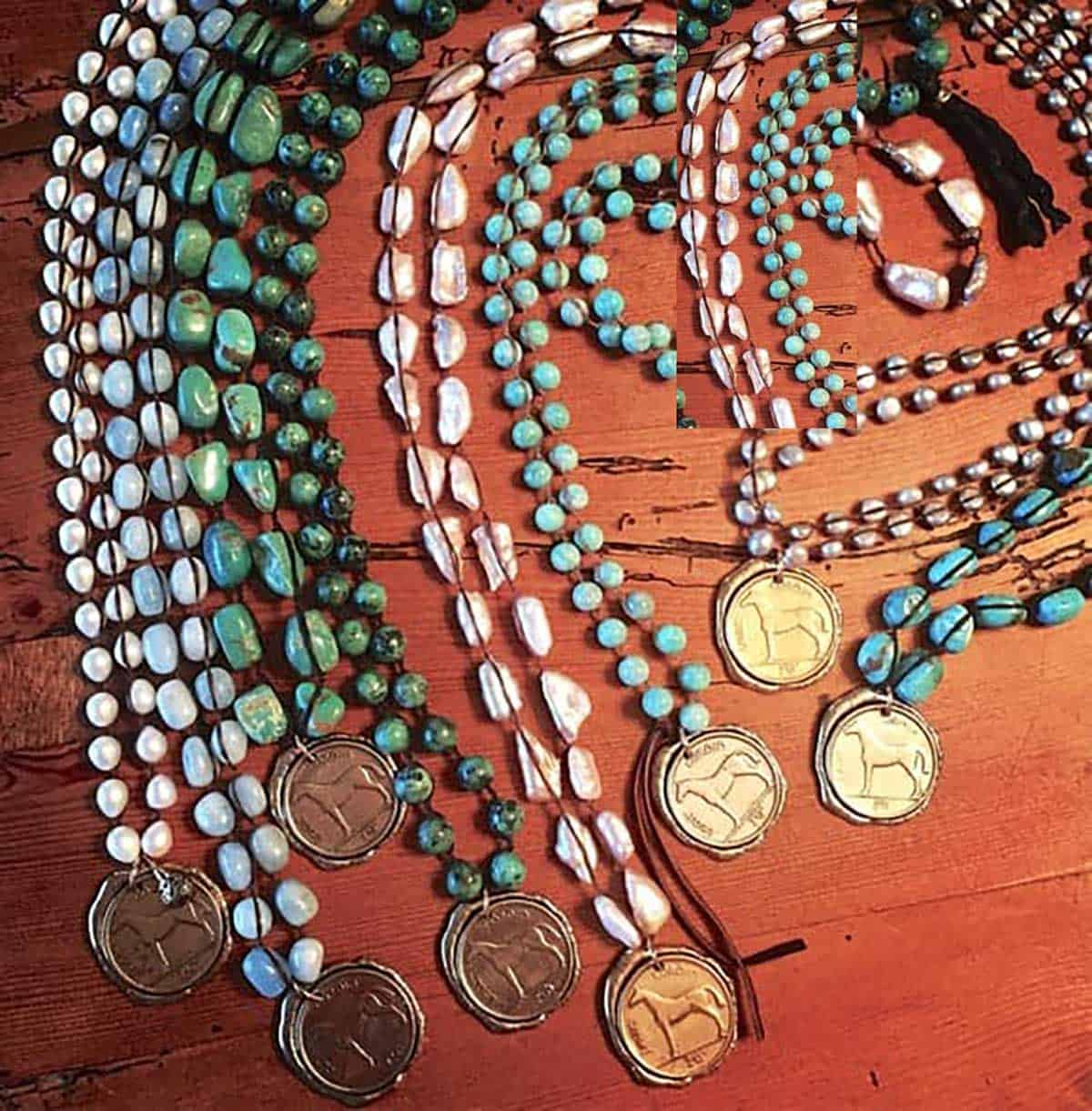Cowgirl - Horse Coin Necklaces