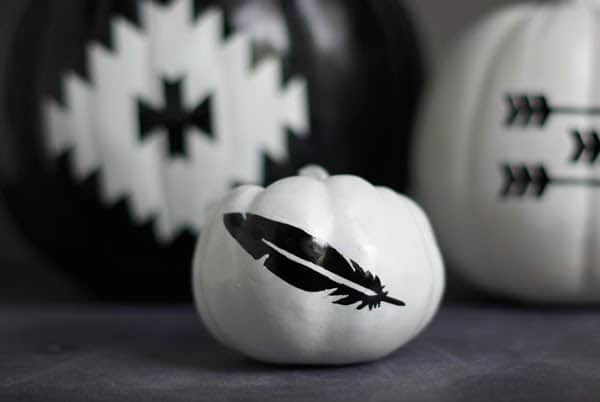 Black-and-White-Southwest-Pumpkins