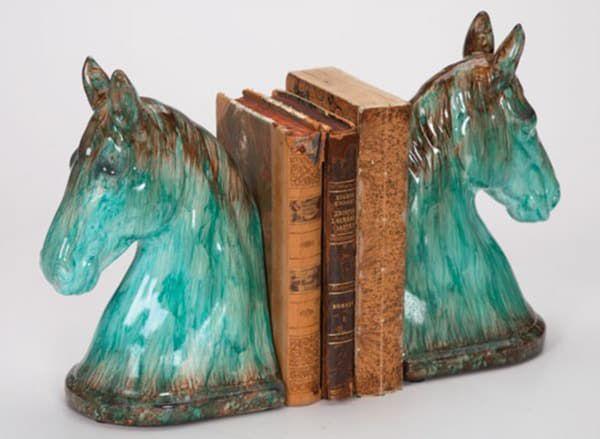 Ceramic-Turquoise-Bookends