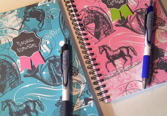 Colorful Horse Notebooks