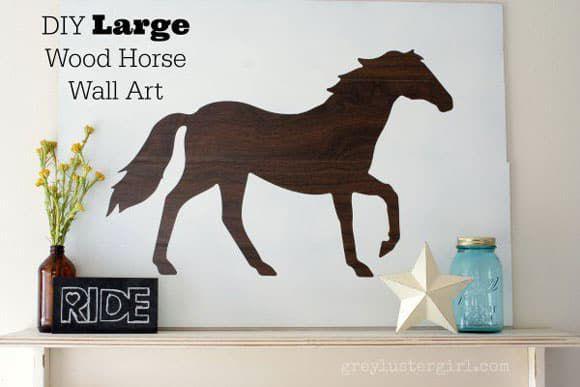 DIY Large wood horse art