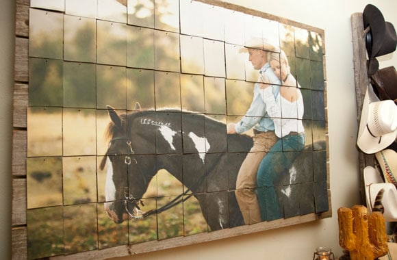 Giant photo for a western entryway