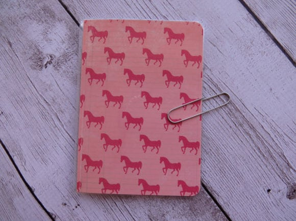 Horse Print Notebook