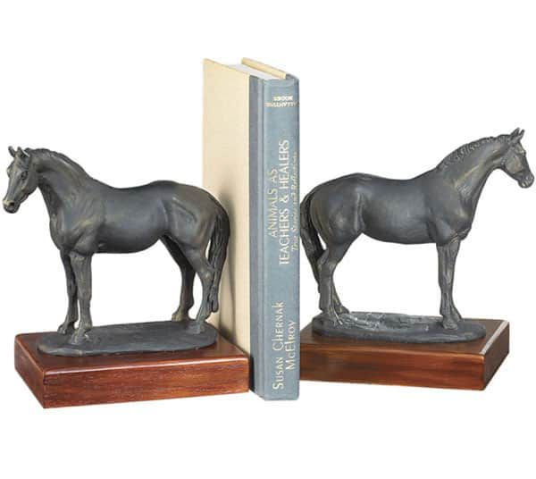 Standing-Horse-Bookends