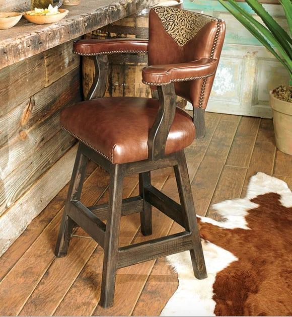 Tooled Leather Barstools