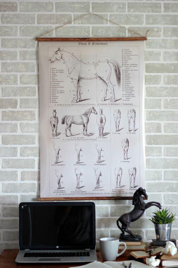 Vintage Hanging Poster DIY
