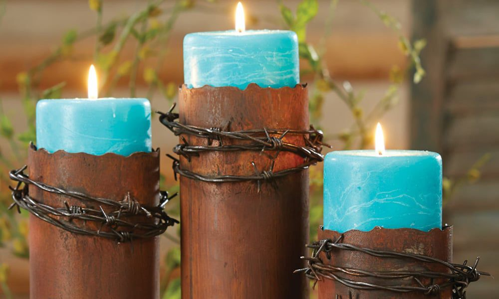 Barbed Wire Candles