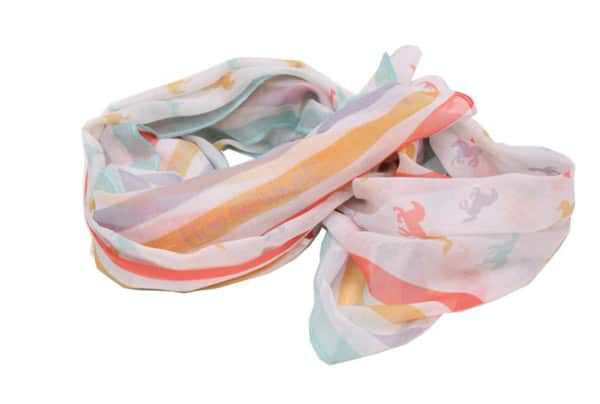 Colorful horse print scarves
