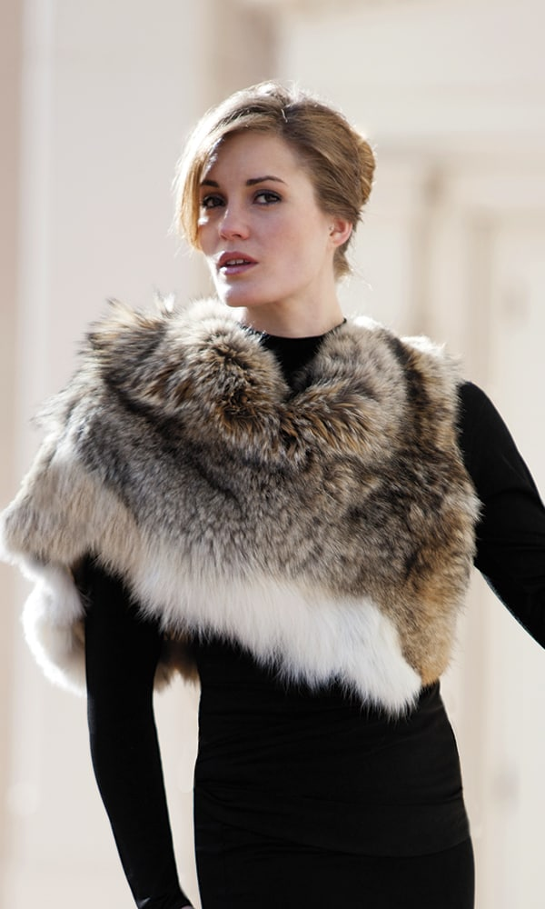 Coyote-Fur-Stole-Black-Dress--Marlow