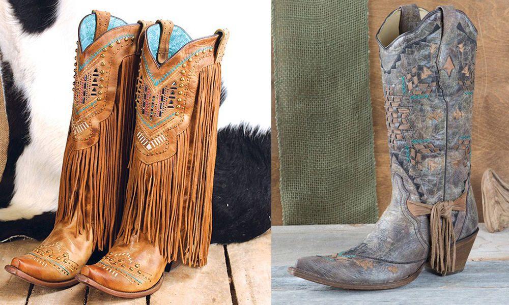 Fringe Corral Cowboy Boots
