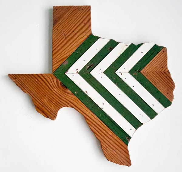 Green-and-white-Texas-wall-hanging
