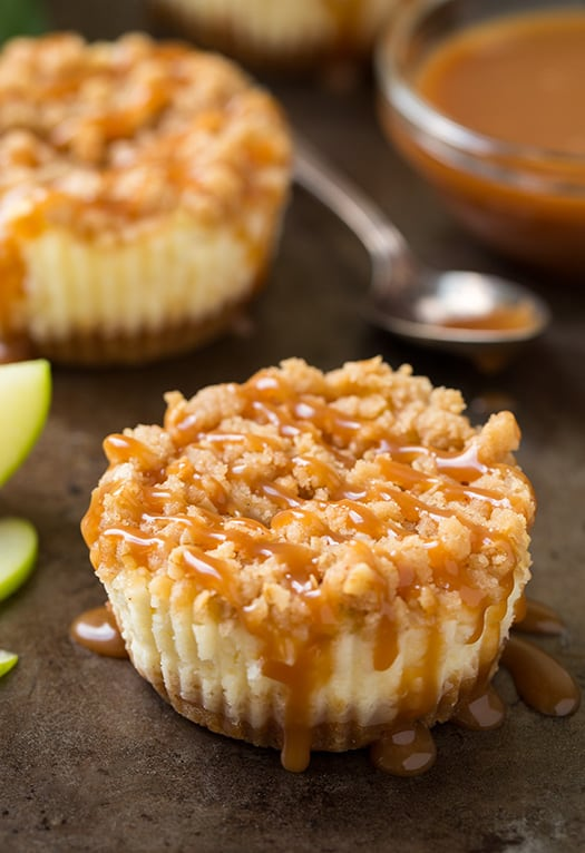 caramel-apple-cheesecake-bites