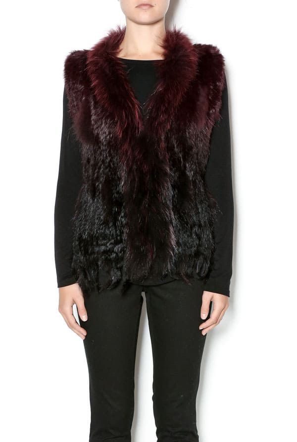 Cowgirl - ombre fur vest