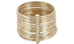 FEATHERED-SOUL-Diamond-&-Gold-Multi-Band-Ring