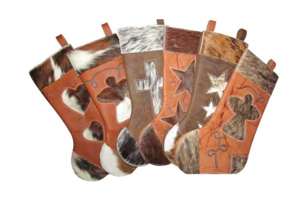 Leather-and-cowhide-western-Christmas-stockings